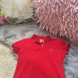 Lacoste red polo
